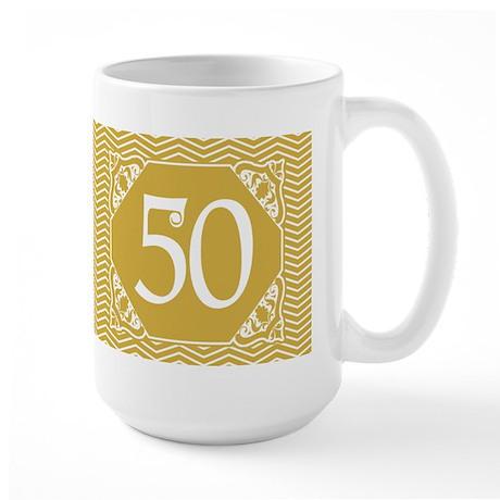 50th Birthday (Chevron) Large Mug