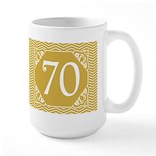 70th Birthday (Chevron) Mug
