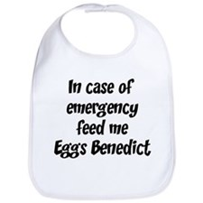 Feed me Eggs Benedict Bib