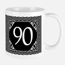 90th Birthday (Chevron) Small Small Mug