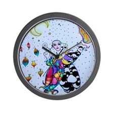 Colorful Jester Wall Clock