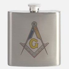 Masonic Square Compass Flask