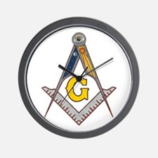 Masonic Square Compass Wall Clock