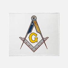 Masonic Square Compass Throw Blanket