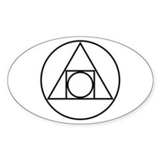 circle square triangle symbol Decal