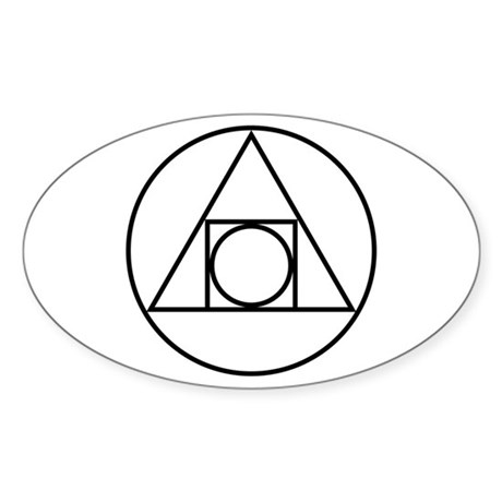 Circle square triangle symbol decal by symbology
