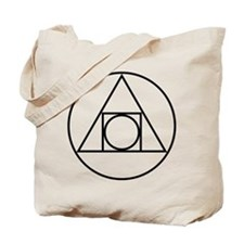 Circle Square Triangle Symbol Tote Bag
