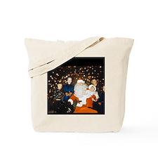 Santa and his grandchildren 1954 Tote Bag