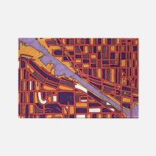 Seattle, Lake Washington Rectangle Magnet
