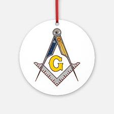 Masonic Square Compass Ornament (Round)