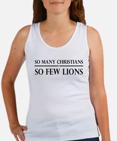 So Many Christians, So Few Lions Women's Tank Top