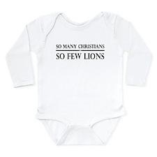 So Many Christians, So Few Lions Long Sleeve Infan