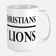 So Many Christians, So Few Lions Large Mug
