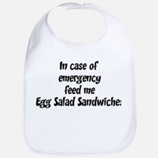 Feed me Egg Salad Sandwiches Bib