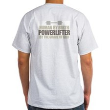 POWERLIFTER BY GRACE Ash Grey T-Shirt