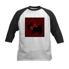 Scottie Dog with plaid Baseball Jersey