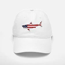 Patriotic Shark Baseball Baseball Cap