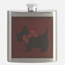 Scottie Dog with plaid Flask