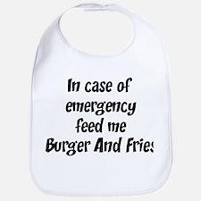 Feed me Burger And Fries Bib