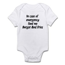 Feed me Burger And Fries Infant Bodysuit