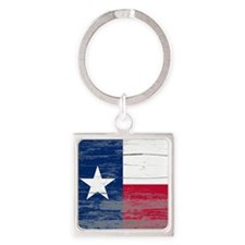 Texas Old Paint Square Keychain