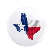 "Texas Shape Flag Distressed 3.5"" Button"