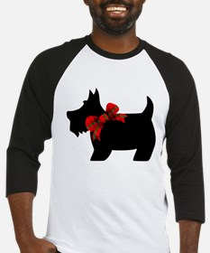 Scottie dog with bow Baseball Jersey