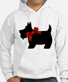 Scottie dog with bow Hoodie