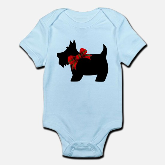 Scottie dog with bow Body Suit