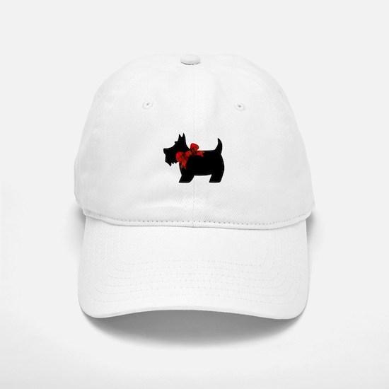 Scottie dog with bow Baseball Baseball Baseball Cap