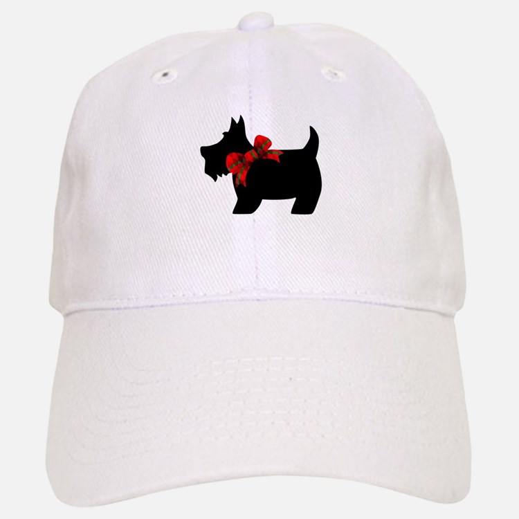 Scottie dog with bow Baseball Baseball Baseball Cap