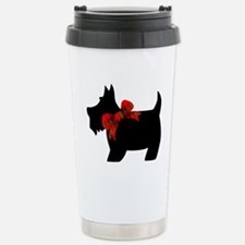 Scottie dog with bow Travel Mug