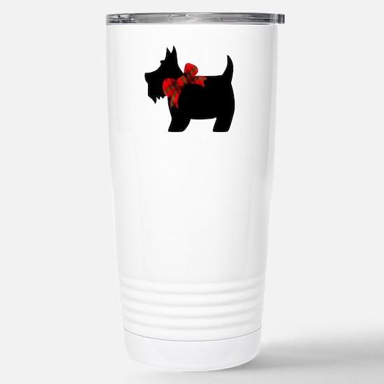 Scottie dog with bow Travel Mug