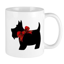 Scottie dog with bow Mugs