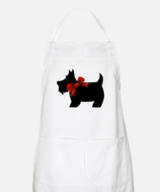 Scottie dog with bow Apron