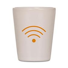 Orange Wi-Fi Signal Shot Glass