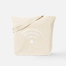 White Wi-Fi Signal Tote Bag