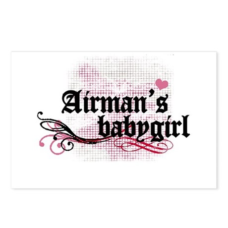 Airman's Babygirl Postcards (Package of 8)