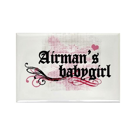 Airman's Babygirl Rectangle Magnet