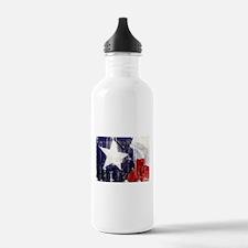 Texas Waving Flag Water Bottle