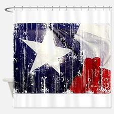 Texas Waving Flag Shower Curtain