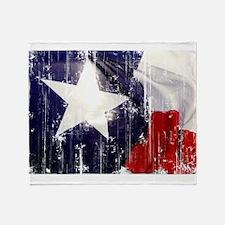 Texas Waving Flag Throw Blanket