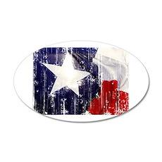 Texas Waving Flag Wall Decal