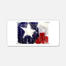 Texas Waving Flag Aluminum License Plate