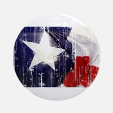 Texas Waving Flag Ornament (Round)