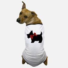 Scottie dog with bow Dog T-Shirt