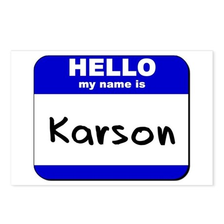 hello my name is karson Postcards (Package of 8)