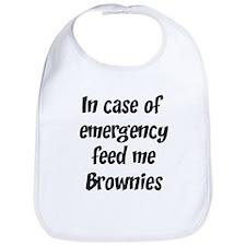 Feed me Brownies Bib