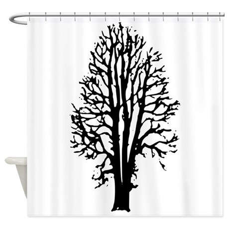 beech tree shower curtain by myfungraphics