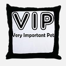 Very Important Pet Throw Pillow